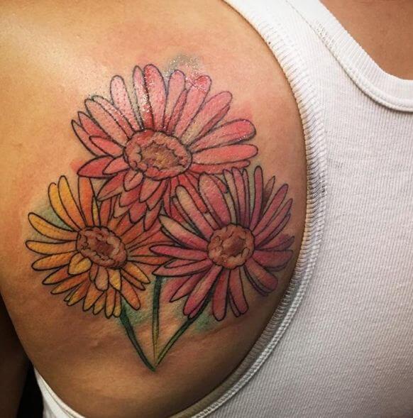 Watercolor Flower Tattoo Ideas