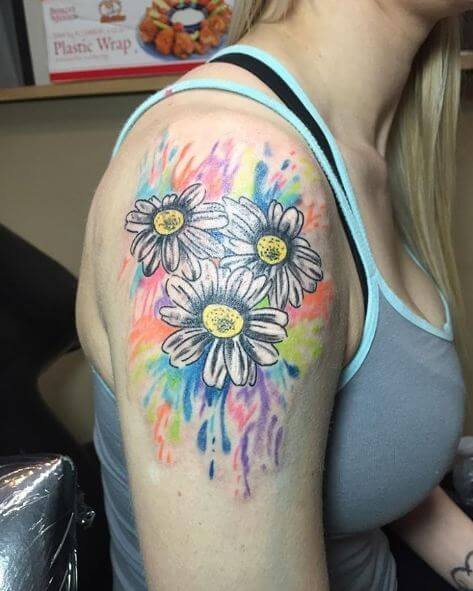 Watercolor Flower Tattoos For Female