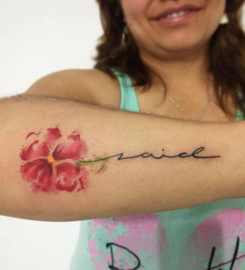 Watercolor Flower Tattoos For Girls
