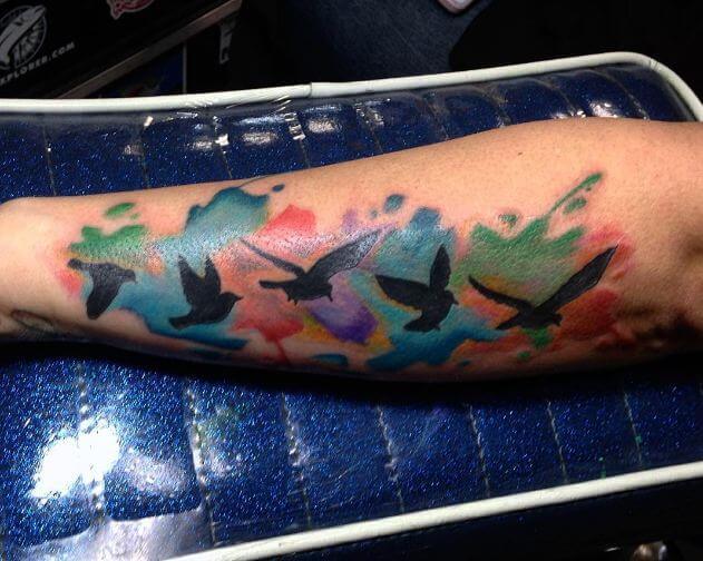 Watercolor Tattoo Birds