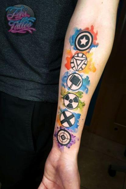 Watercolor Tattoos Designs
