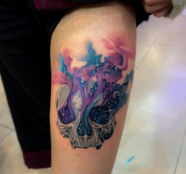 Watercolor Tattoos For Thighs