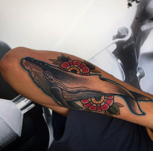 Whale Tattoos On Sleeve