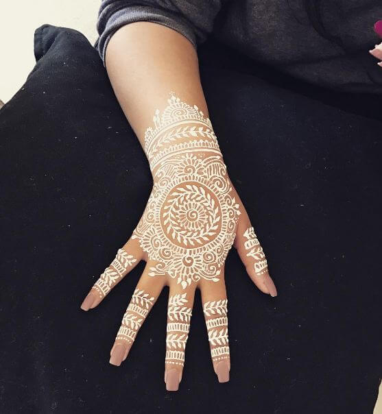 White Henna Tattoo