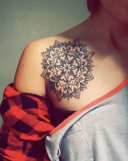 White Mandala Tattoo