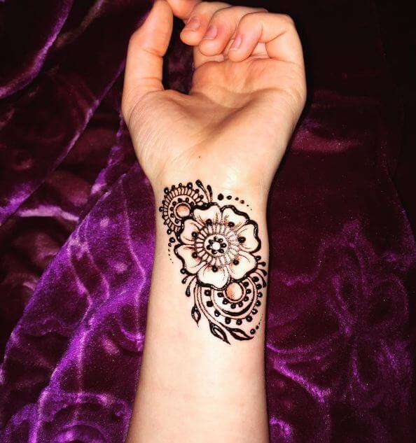 Wrist Henna Tattoos