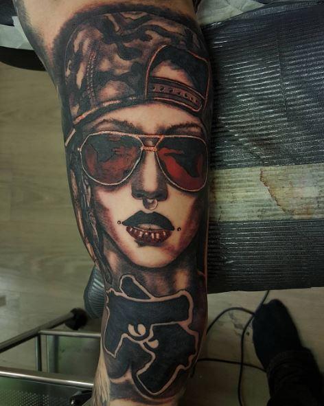 3D Gangsta Tattoos Design And Ideas