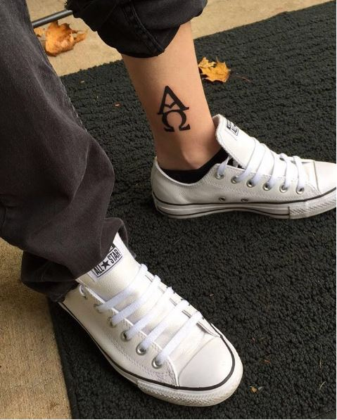 Alpha Ankle Tattoos Design And Ideas