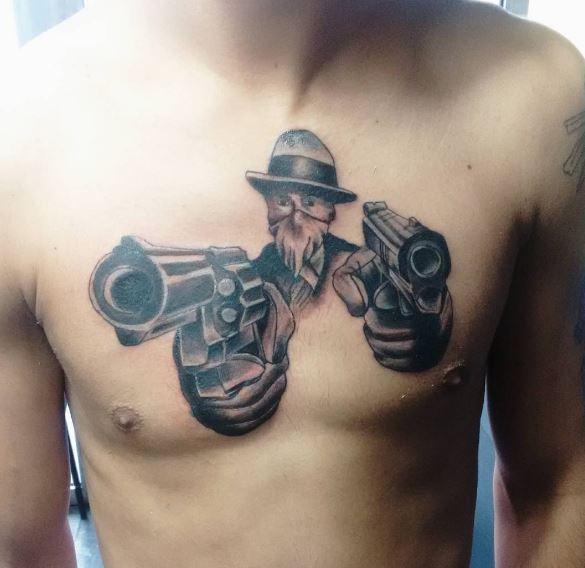 Amazing Gangsta Tattoos Design For Men