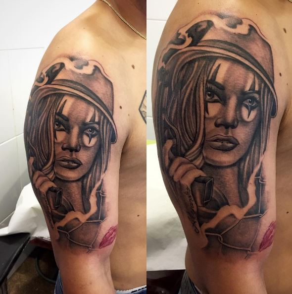 American Gangsta Tattoos Design