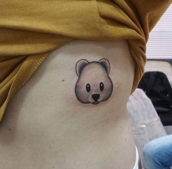 Bear Tattoos Design On Ribcage