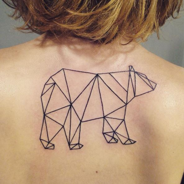 Bear Tattoos On Women Upper Backside