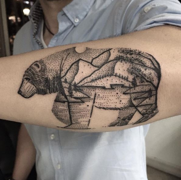 Best Bear Tattoos Design On Forearms