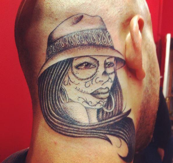 Best Gangsta Tattoos Design On Neck