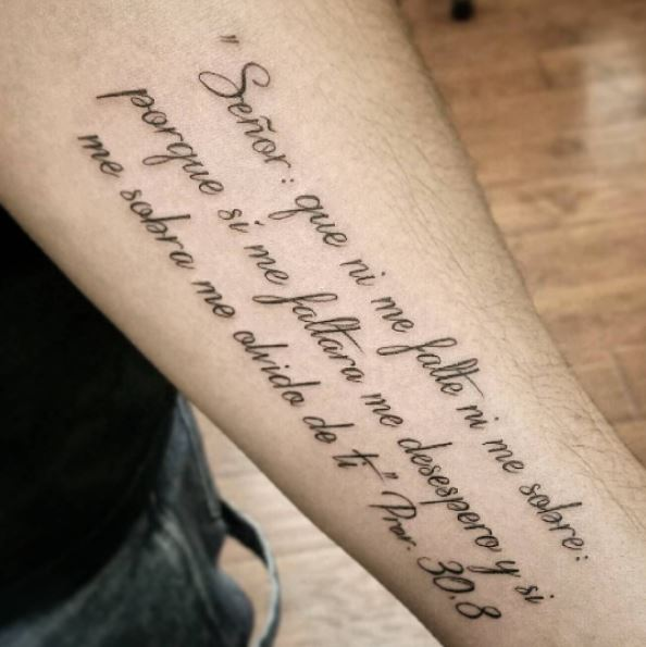 Bible Quote Tattoo Design On Hands