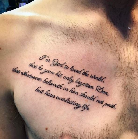 Bible Tattoos Design On Chest