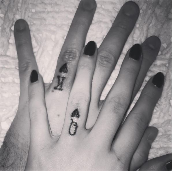 Card Number Wedding Ring Tattoos Design