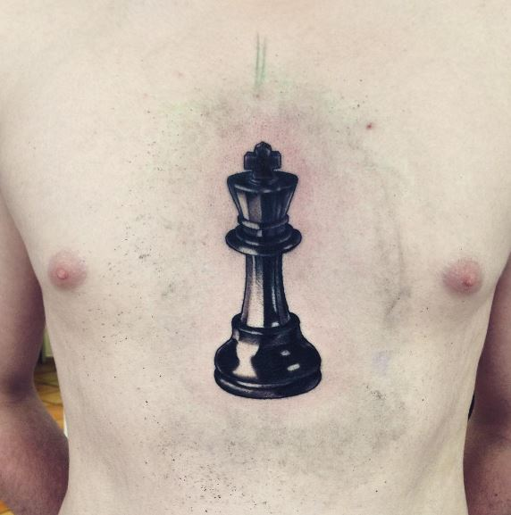 Chess Tattoos Design On Chest