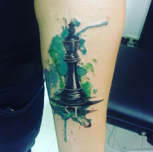 Colored Chess Tattoos Design And Ideas