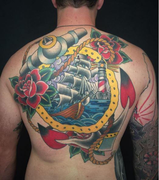 Colorful Nautical Tattoos Design And Ideas
