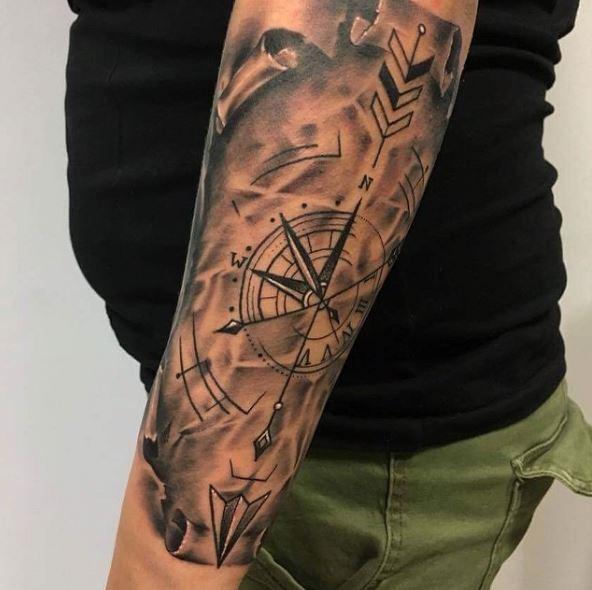 Compass Nautical Tattoos Design And Ideas