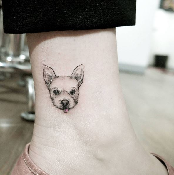 Dog Ankle Tattoos Design And Ideas