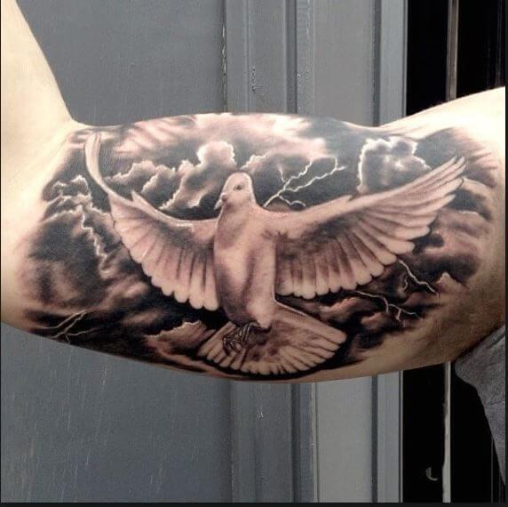 Dove Tattoos Design On Bicep