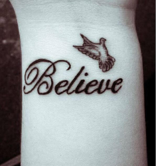 Dove Tattoos For Girl On Wrist