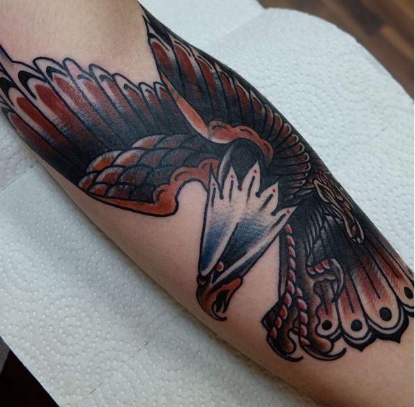 Eagle Tattoo On Wrist