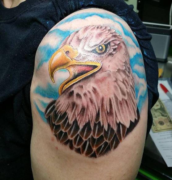 Eagle Tatto On Arm 18