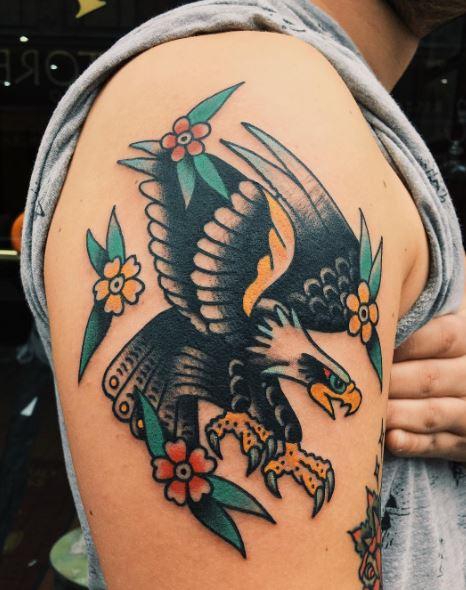 Eagle Tatto On Arm 2