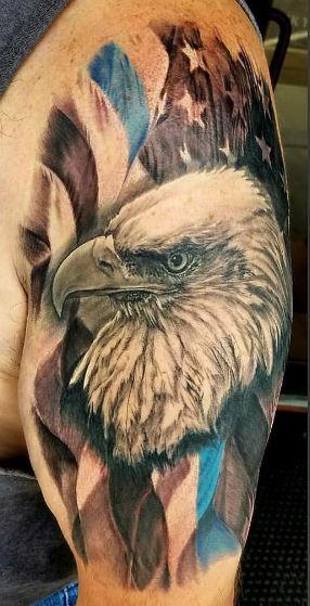 Eagle Tatto On Arm 25