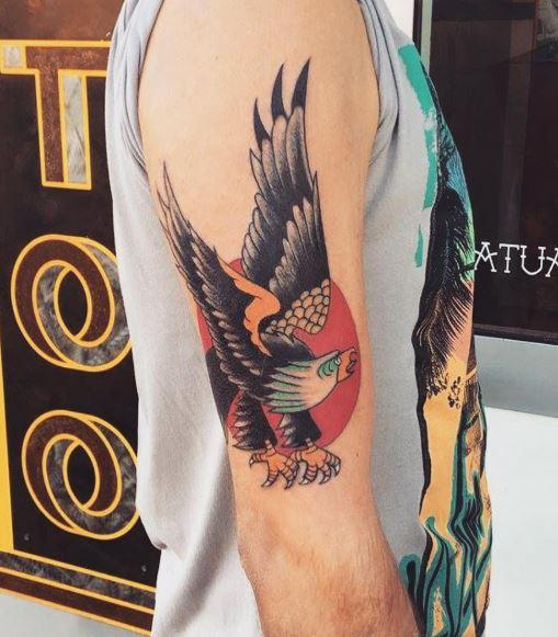 Eagle Tatto On Arm 29
