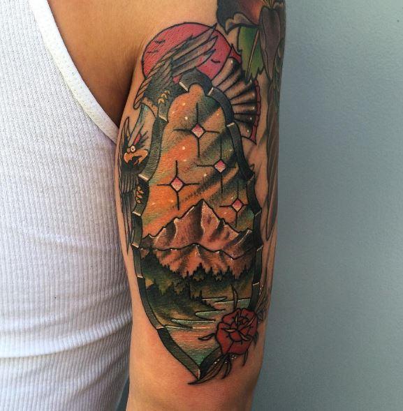 Eagle Tatto On Arm 4