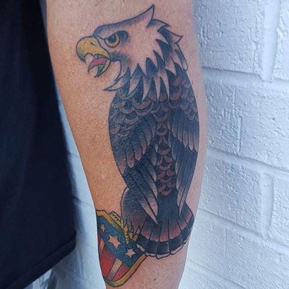 Eagle Tatto On Arm 9