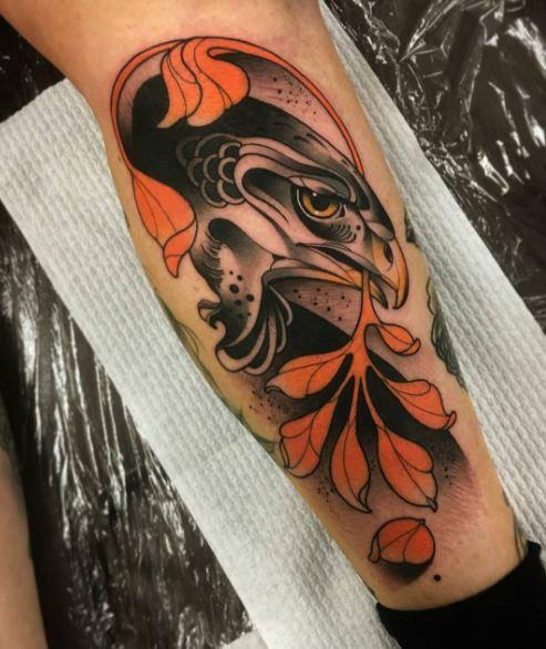 Eagle Tatto On Arm