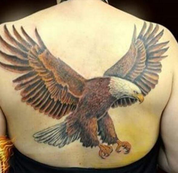 Eagle Tatto On Back