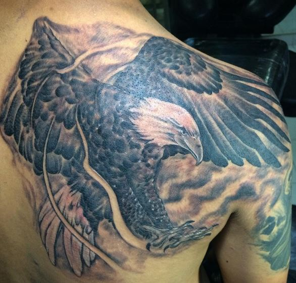 Eagle Tatto On Shoulder 2
