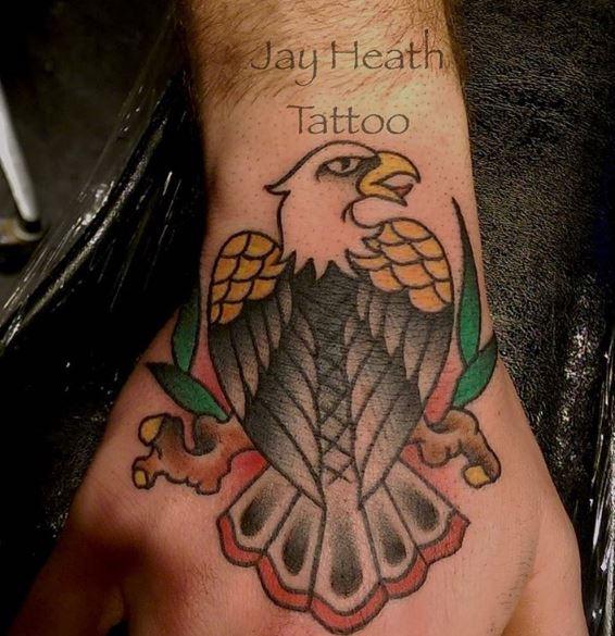 Eagle Tatto On Wrist 4