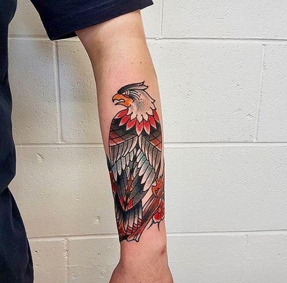 Eagle Tatto On Wrist