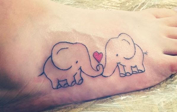 Elephant Tattoos Design For Couples
