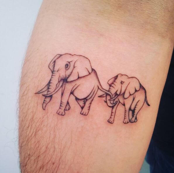 Elephant Tattoos Design On Forearm