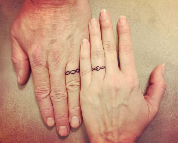Fabulous Wedding Ring Tattoos Design And Ideas