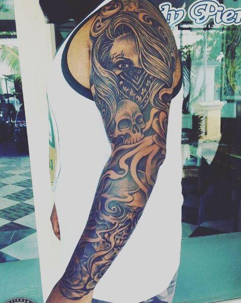 Full Arm Gangsta Tattoos Design And Ideas
