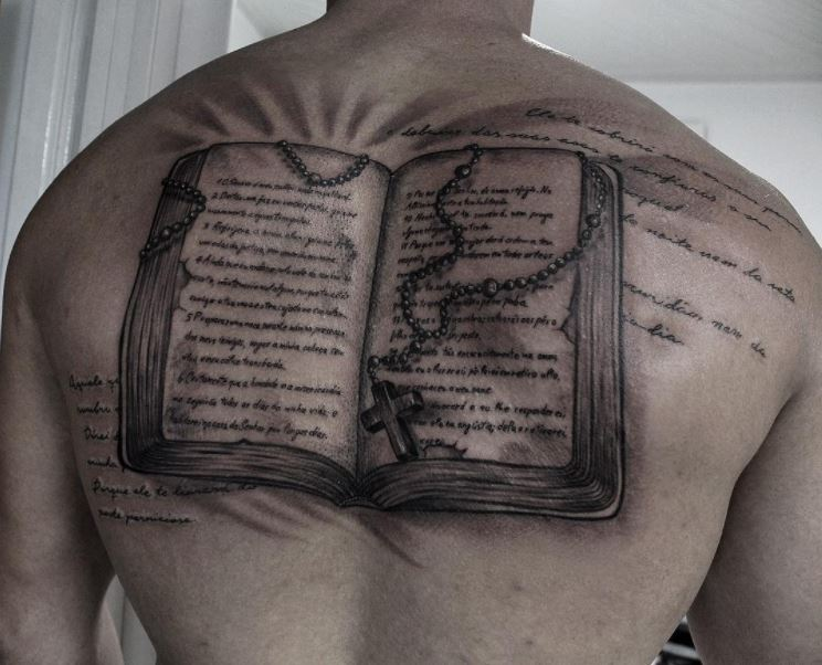 Full Back Bible Tattoo Design And Ideas