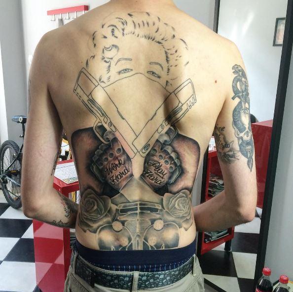 Gangsta Tattoos Design Full Back Side