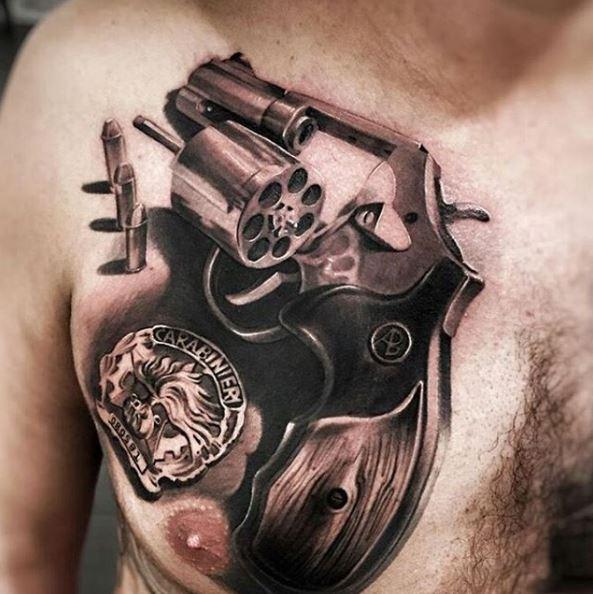 Gangsta Tattoos Design On Chest For Men