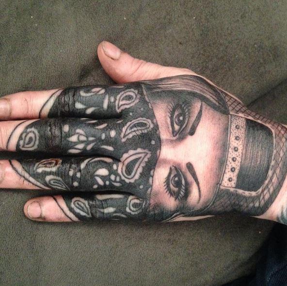 Gangsta Tattoos Design On Hands