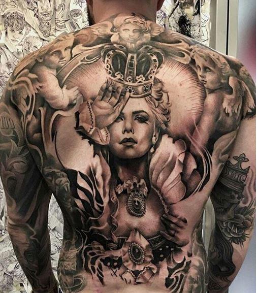 Gangsta Teardrop Tattoos Design