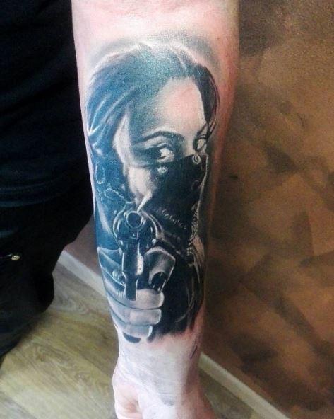 Gangster Tattoos Sleeves